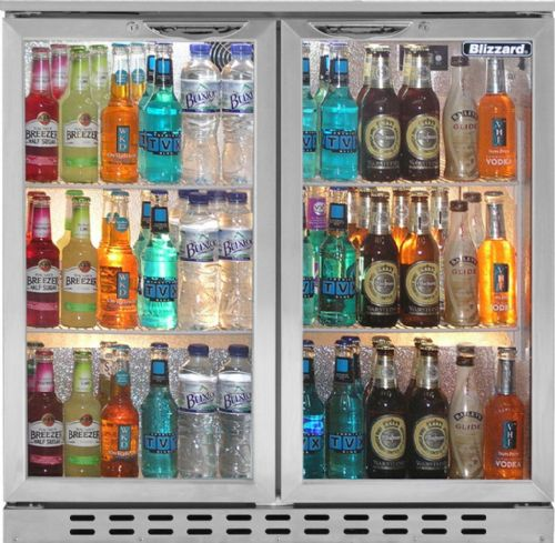 BAR 2  Double Door SS Bottle  Fridge